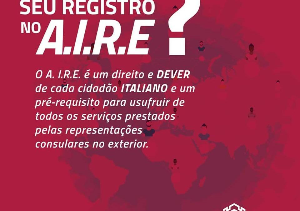 Já fez seu registro no A.I.R.E.?